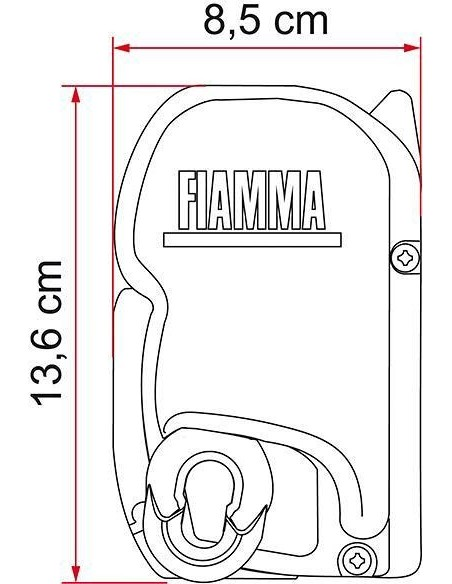 Fiamma F45S Spezialmarkise T5 California 2,6m