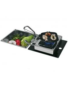 Can 1-flammige Klappbare Kocher-Spüle-Kombination mit Wasserhahn LC 1710