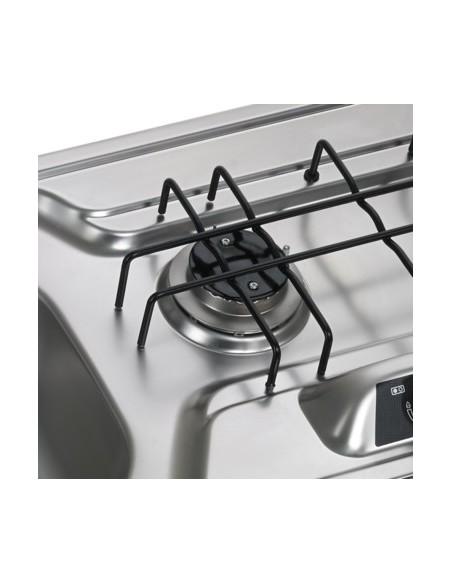Dometic HS 2320 L Kocher-Spülen-Kombination, Edelstahl Piezo Becken links 30mbar
