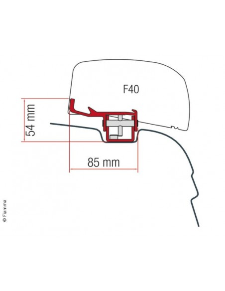 Montagedadapter für F40 Van VW T5 / T6, UK-Version